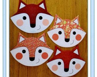 Let's Eat Fox Placemat Pattern by Susie C. Shore Designs ST1413