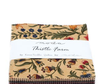 """Moda Thistle Farm Charm Pack (42) 5"""" Quilt Fabric Squares by Kansas Troubles Quilting Sewing"""