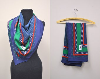 1970s Yves Saint Laurent Silk Scarf
