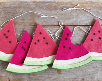 NEW Felt Watermelon Bunting