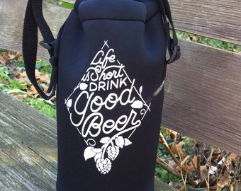 Craft Beer Growler Cooler, Great Gift for Beer Lover, Craft Beer Gift, Christmas Gift for Beer Geek, Oktoberfest , Birthday Gift