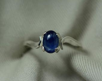 Sapphire Ring, Blue Sapphire Cabochon Ring 1.16 Carat Appraised at 525.00, September Birthstone, Natural Sapphire Jewelry, Oval Cut