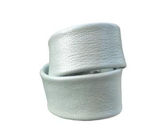 Ice Blue leather cuff , Double Wrap Leather Bracelet , Minimalist bracelet , Mint Green, Stacking bracelets , Seafoam green, Sea Mist, Pearl