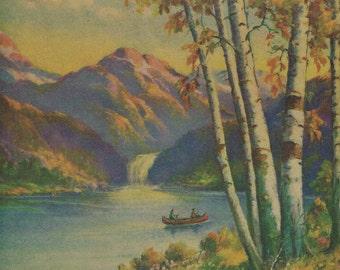 Birches on the Lake Calendar Art Print