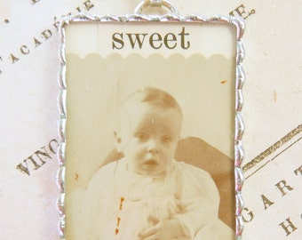 Fiona and The Fig Photo Charm - SWEET BABY - Merton Gale - Charm-Necklace-Pendant-Jewelry