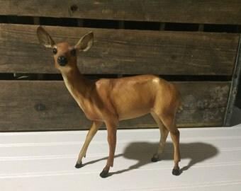 Vintage deer Figurine Plastic Display