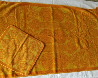 Vintage Towel Set By Sears Tweintieth Collection, Bath towel, Washcloth