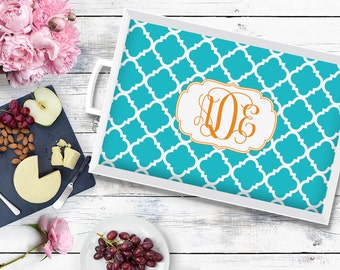 Personalized Tray - Wedding gift for Couple - Monogram Serving Tray - Hostess Gift Choose your design