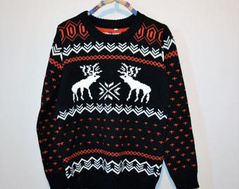 Vintage Deer Sweater with Graphics