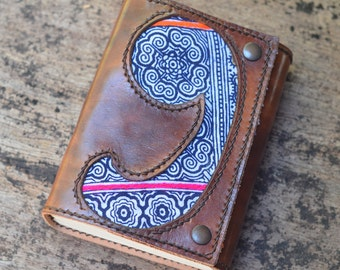 "Leather Journal / Handmade / Diary / 6""X4"" / FREE initials / LINED or Plain"