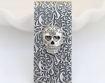 Money Clip Skull Vintage Inspired Silver Plated Men's Accessories Antique Style  Men's Gifts,Groomsmen Wedding Gifts, Anniversary Gifts