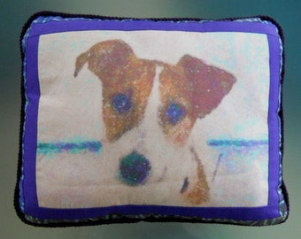 """Jack Russell Throw Pillow — """"Nelson"""""""