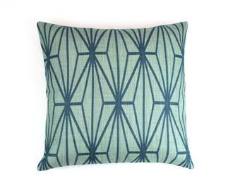 Kelly Wearstler Katana Pillows (Both Sides-Shown in Jade/Teal)