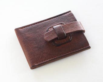 Leather Card Wallet card and Bill Holder Card Leather Holder Small Pocket Leather Wallet