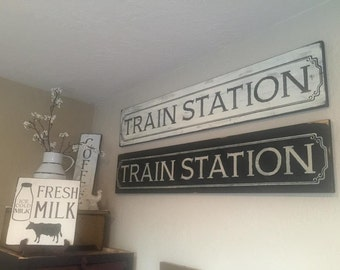 10 x 48 Train Station Sign