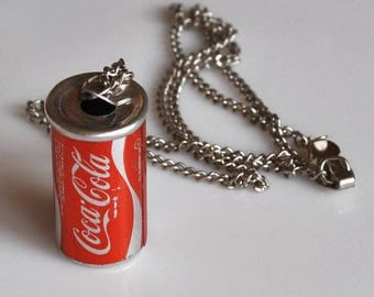 Mini Coca Cola Can & Necklace from the 70's Style