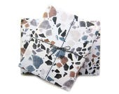 TERRAZZO • 5 sheets of organic wrapping paper