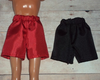 "NEW 2 pair Silk Satin Look Boxer Short Set for 12"" Fashion Dolls ~ Clothes for Barbies Friend Ken"
