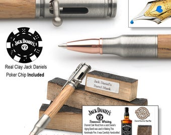 Bolt Action Pen Handmade with Real Barrel Wood from Jack Daniel's  Handcrafted in Tennessee Gift for Whiskey Drinkers  Hunter  Gun Shooter