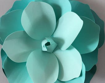 Extra large 3D Wall Magnolia flower  - Ombré Teal Magnilia flower  decal, wall decoration