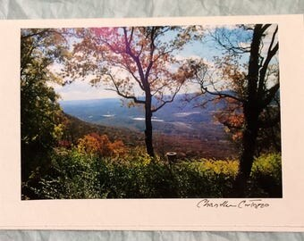 Lookout Mountain / Tennessee Mountains / Scenic Tennessee Blank Note Card with Envelope / Birthday Card / Sympathy Card