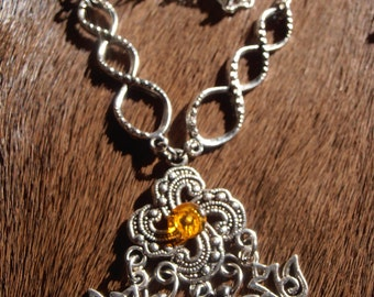 Visigothic Sun and Amber Knot charm (Norse heathen pagan gothic wiccaasatru visigoth goth sweden)