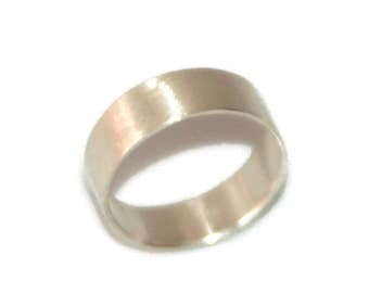 Extra Wide Brushed Silver Ring for Men