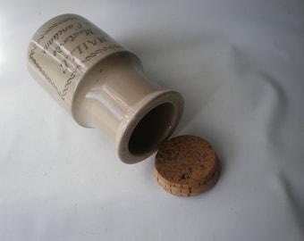 Vintage Ceramic French Mustard Maille Crock or Jar