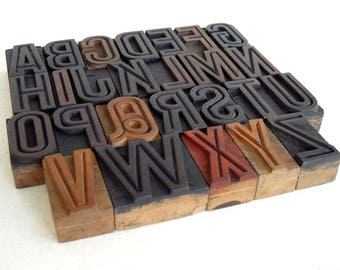 25% OFF -A to Z - Vintage Letterpress Wood Type Collection - VG02