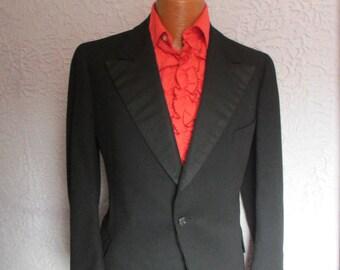 30's Vintage Men's Tuxedo Jacket Tux Wool Silk Med/Lg