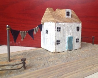 Driftwood house, gift, original home decor, driftwood ornament, wedding present, gift, reclaimed wood, driftwood art