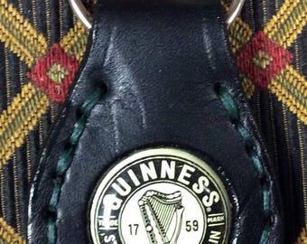 Guiness bottle cap key ring