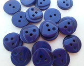 19 Navy Blue Triangle Top Round Buttons Size 9/16.