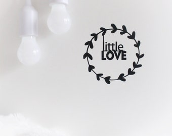 wall decal, little love, nursery wall decals, nursery stickers, little love sticker, minimalist nursery decal, monochrome nursery