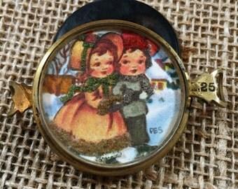 Vintage Handcrafted Children Ice Skating Bracelet piece
