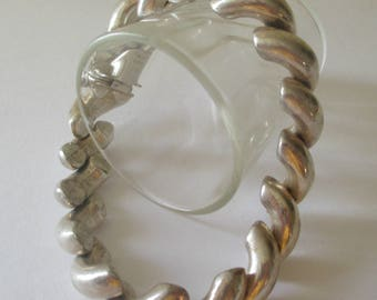 Sterling Silver San Marco Bracelet Big Chunky Italy 925