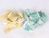 RESERVED for VALERIE Aqua Teal blue and golden yellow Beaded yarn Silk Embroidery thread Weaving Supplies Hand dyed Sewing quilting thread