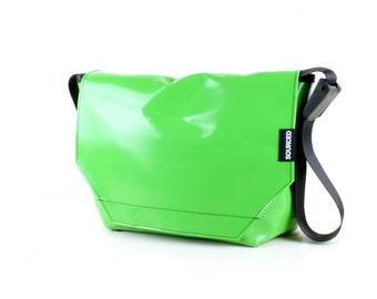 Large Messenger Bag made from Recycled Truck Tarp, Man Bag, Satchel Style Bag, MacBook Bag (56.07)