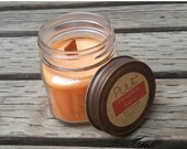ON SALE Pumpkin Spice Soy Candle - Rustic Mason Jar Candle - Autumn Home Fragrance - 8 oz Pure Soy Paraffin Free Candle