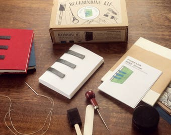 Bookbinding Kit - Complete French link stitch bookbinding kit with tools, supplies and instruction book