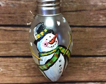 Christmas ornaments, hand painted, custom made ornament, small bulb