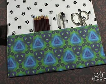 Pencils Rollup, art roll, brush roll, crochet hooks