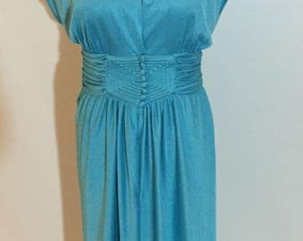 """Gorgeous Blue Vintage """" I Love Lucy"""" Style Dress"""
