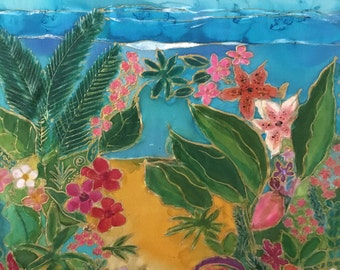 Tropical Summer Silk Painting