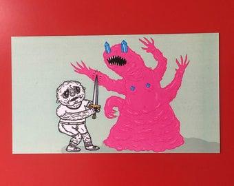 Pink Monster magnet