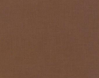 Earth, Kona Cotton, Robert Kaufman Fabrics, 1/2 Yard