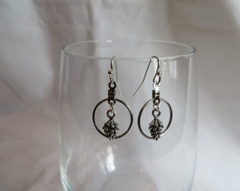 Pine Cone Earrings, earrings, pine cone, dangle