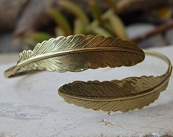 Antique Brass Bracelet, Leaves Bracelet, Leaf Cuff, Bridesmaid Bracelet, Dainty Bracelet,Girlfriend Gift Idea,Leaf Bangle, Leaf Pattern Cuff