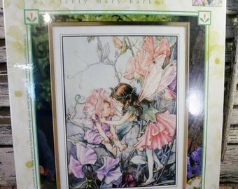 FLOWER FAIRIES cross stitch Kit 5523 the sweet pea fairy Cicely Mary Barker embroidery NEW
