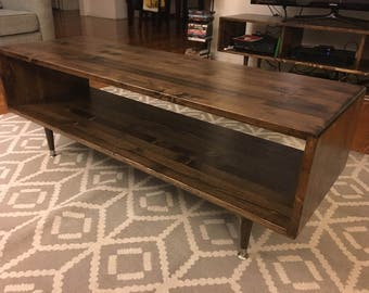 Mid Century Coffee Table Solid Wood - MADE TO ORDER